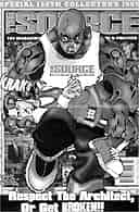 Catty comic: the controversial poster in the February issue of the hip-hop magazine, The Source