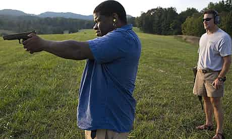 Gary Younge goes shooting with Carey Garst in Boones Mill, Virginia. Photograph: Sean Smith