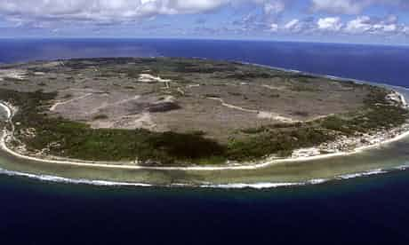 The barren Pacific island of Nauru, where Australia sent asylum-seeking Afghans in 2001. Photograph: Torsten Blackwood/AFP/Getty