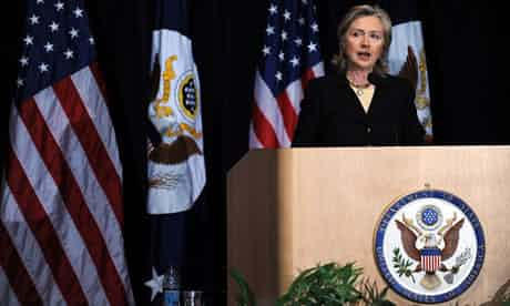 US embassy cables reveal that Hillary Clinton instructed staff around the world to spy on UN staff and leaders. Photograph: Tim Sloan/AFP/Getty Images
