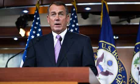 John Boehner: shot himself in the foot. Photograph: Jonathan Ernst/Reuters