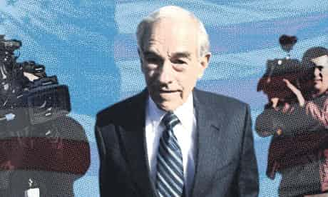 Republican presidential hopeful Ron Paul. Photomontage by Jaime Turner