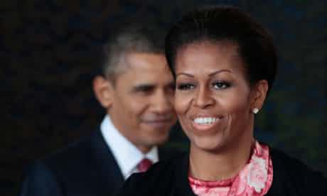 Michelle and Barack Obama. The first lady has dismissed claims she is
