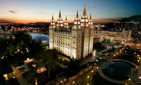 The Mormon Temple is the centerpiece of Temple Square in Salt Lake City. Photograph: Douglas C. Pizac/AP