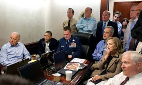 The Situation Room in the White House. Obama has portrayed the killing of Osama bin Laden as a foreign policy success. Photograph: Pete Souza/AP