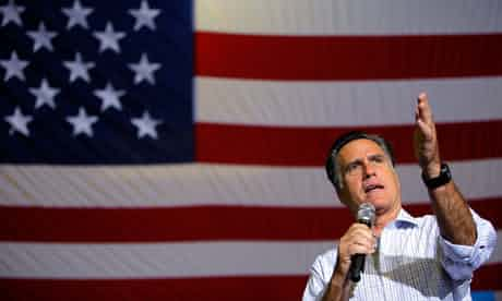 Mitt Romney: more comfortable with a PowerPoint than a podium. Photograph: Brian Snyder/Reuters