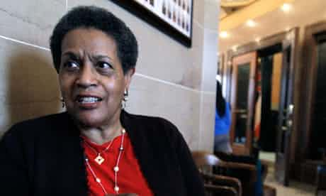Myrlie Evers-Williams will be the first women and layperson to deliver the invocation at a presidential inauguration. Photograph: Rogelio V Solis/AP