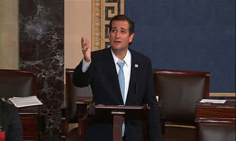 More ham than green eggs: Ted Cruz on the Senate floor, during his epic