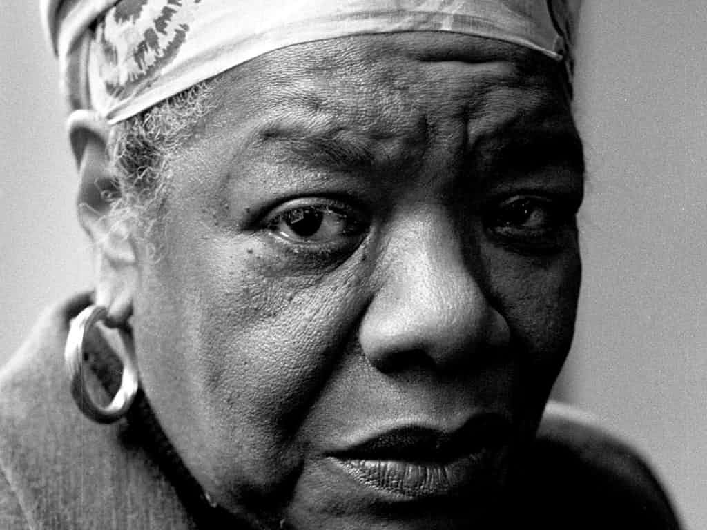 Maya Angelou in 1999: tall, straight and true. Photograph: Martin Godwin