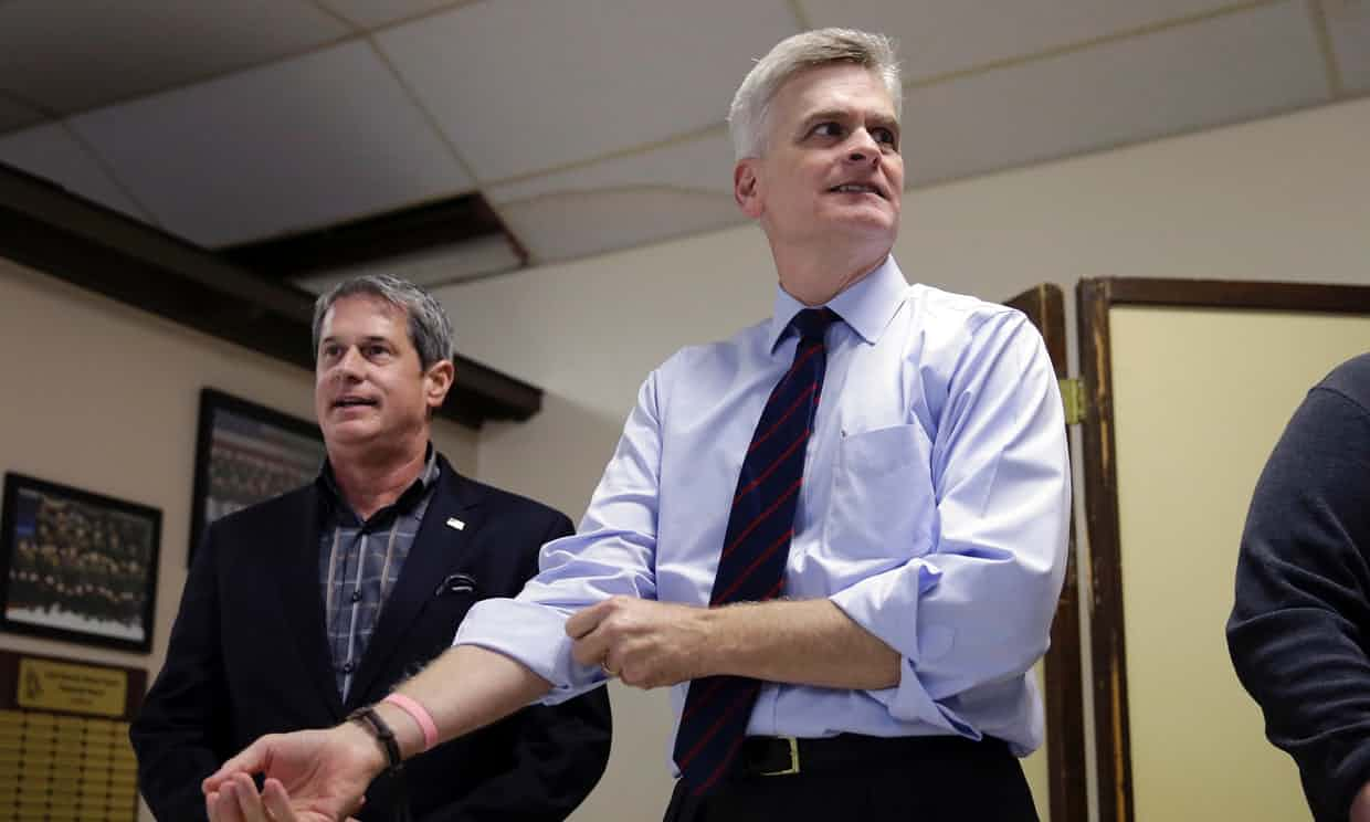 Senate candidate Bill Cassidy failed to turned up for a debate with his Democratic rival Mary Landrieu. Photograph: Gerald Herbert/AP