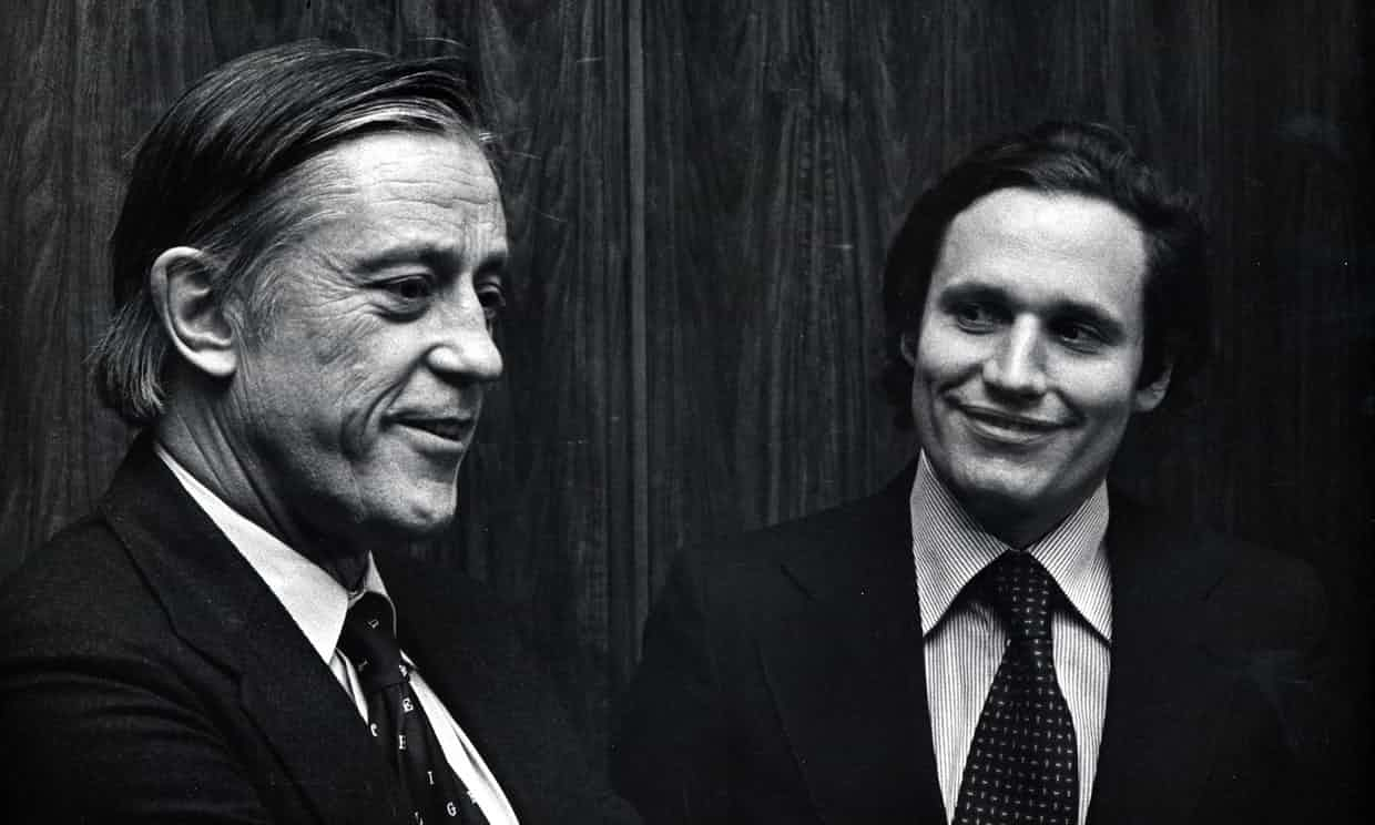 Ben Bradlee and Bob Woodward at the All the President's Men premiere in 1976. Photograph: Ron Galella/WireImage