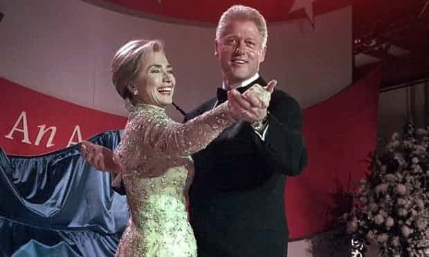 Hillary and Bill Clinton in 1997, who both continue to be relevant in American politics nearly 15 years after his presidency. Photograph: J Scott Applewhite/AP