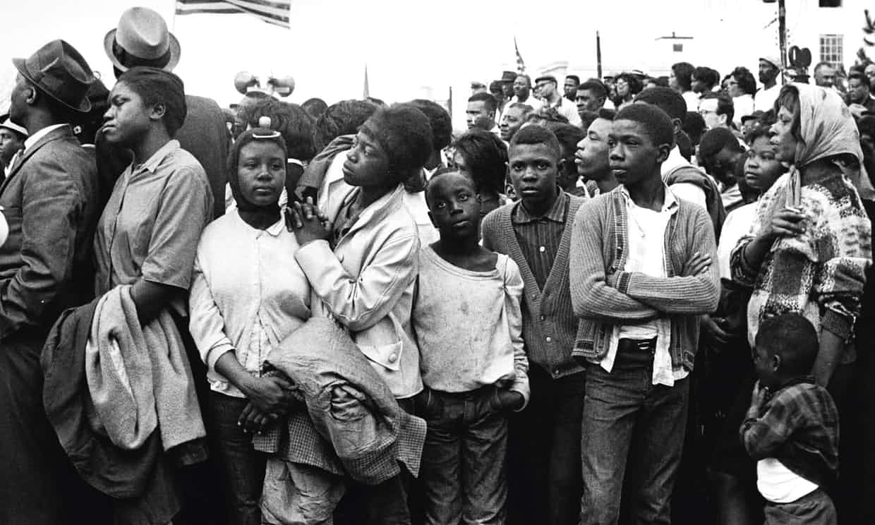 Civil rights marchers arrive in Montgomery in November 1965. Photograph: Morton Broffman/Getty