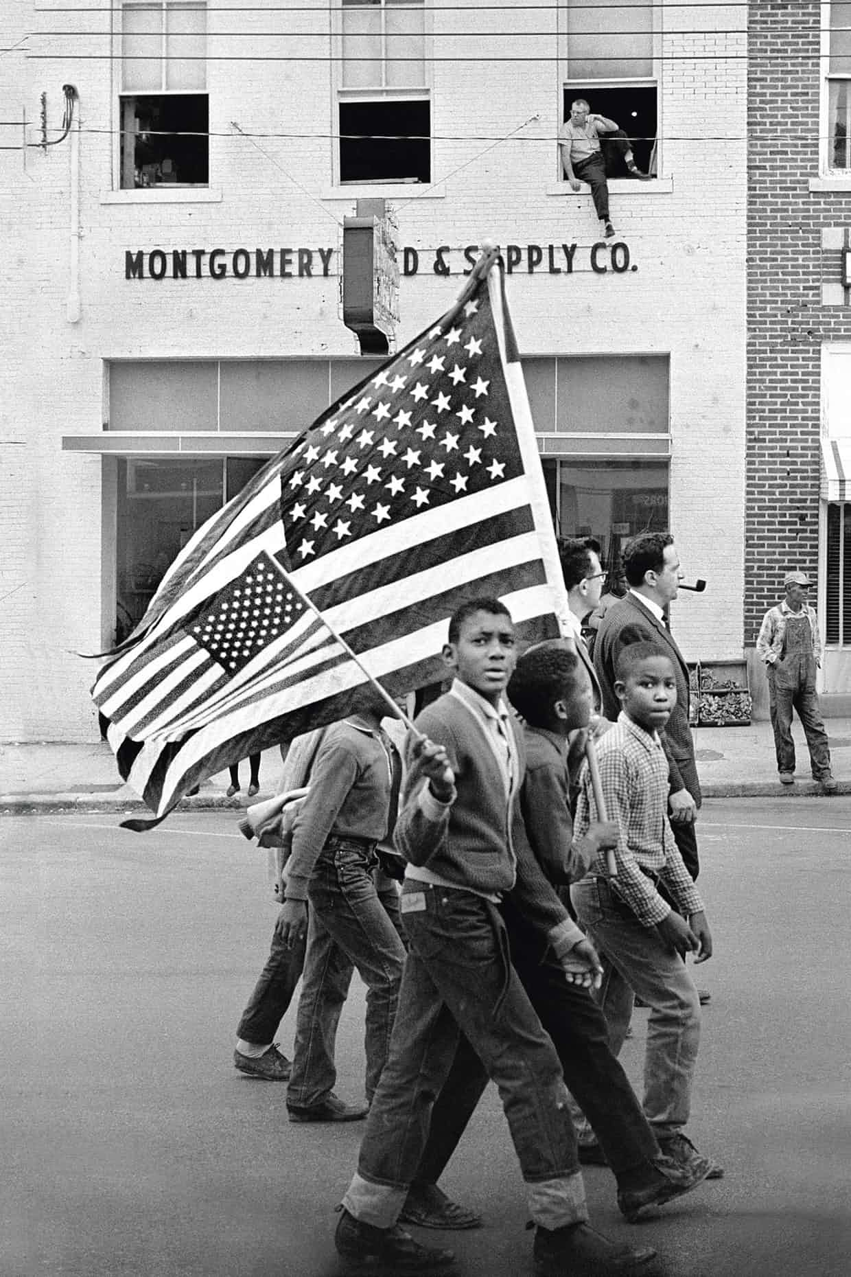 Protesters march from Selma in 1965. Photograph: Stephen F Somerstein/Getty
