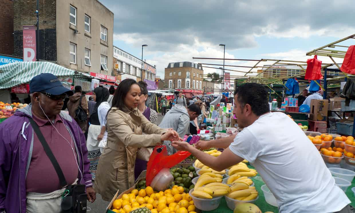 'In Ridley Road market halal butchers are in plentiful supply.' Photograph: Alamy