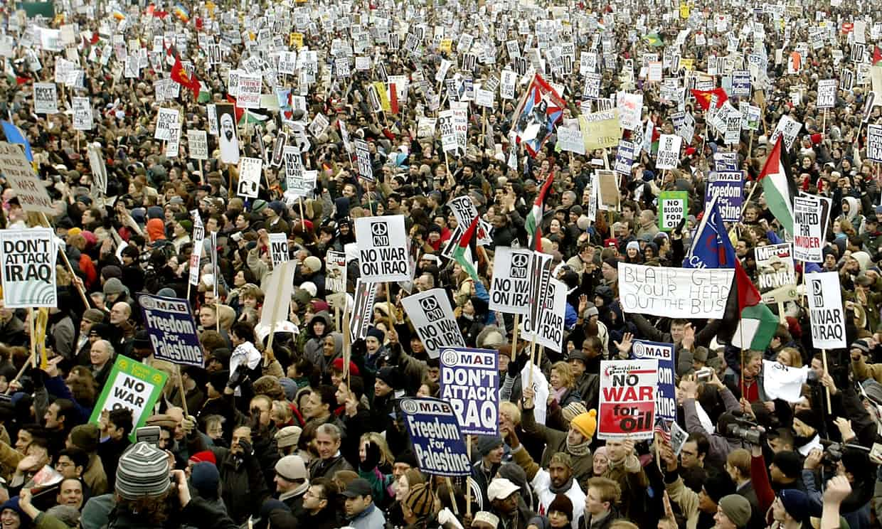 'In the runup to the Iraq war London saw the biggest demonstration in its history, in which my guess is that the overwhelming majority who attended that march voted for the government they were demonstrating against.' Photograph: Scott Barbour/Gett