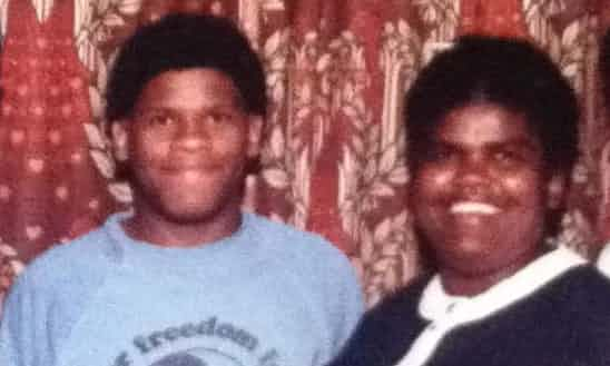Gary Younge, aged 17, with his mother. Photograph: Gary Younge