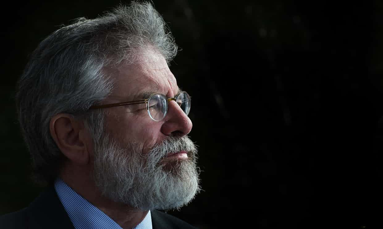 Gerry Adams: 'a life's work of internationalism and antiracist solidarity.' Photograph: Charles McQuillan/Getty