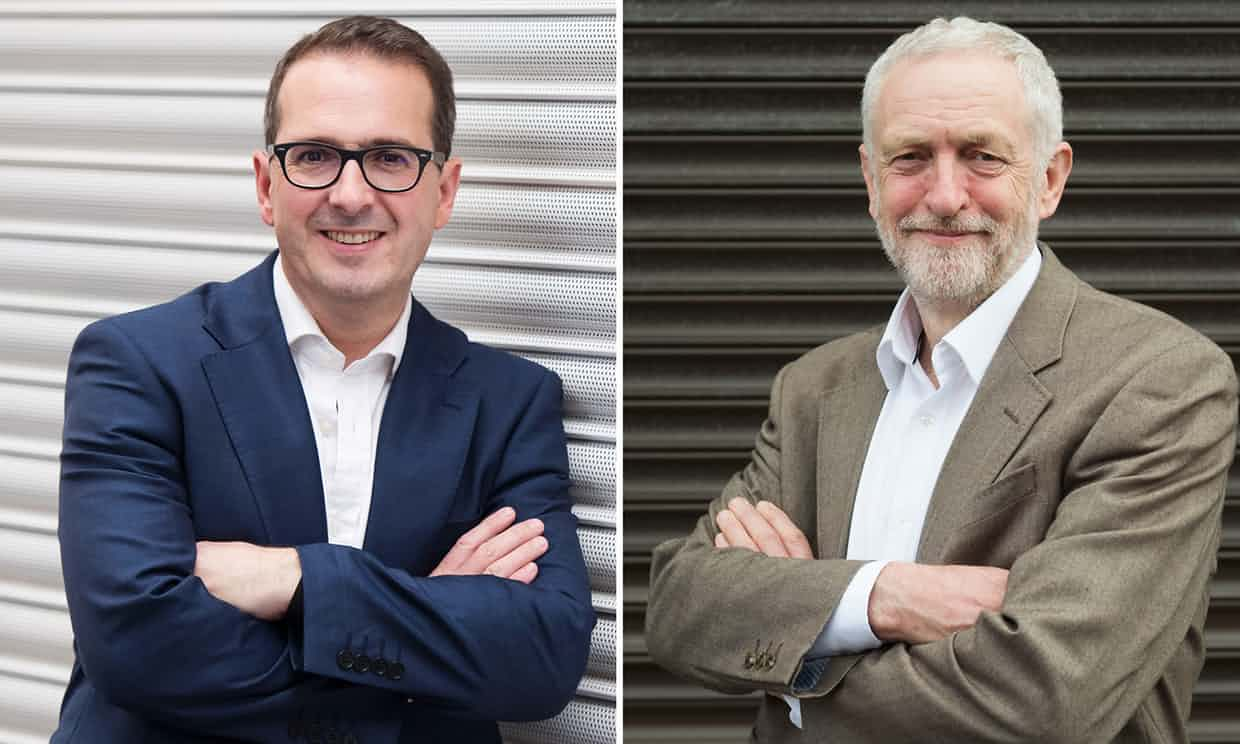 Owen Smith and Jeremy Corbyn … the other pair dividing opinion. Photograph: Matthew Horwood/Getty Images