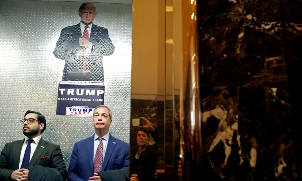 Nigel Farage arrives at Trump Tower to meet president-elect Donald Trump. Photograph: Yana Paskova/Getty Images