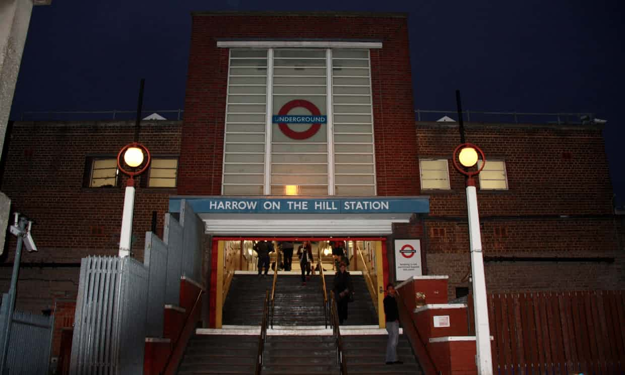 Harrow on the Hill underground station. Do you live in the parliamentary constituency of Harrow West? We'd like to find out what issues are important to you. Photograph: Dave Hill for the Guardian