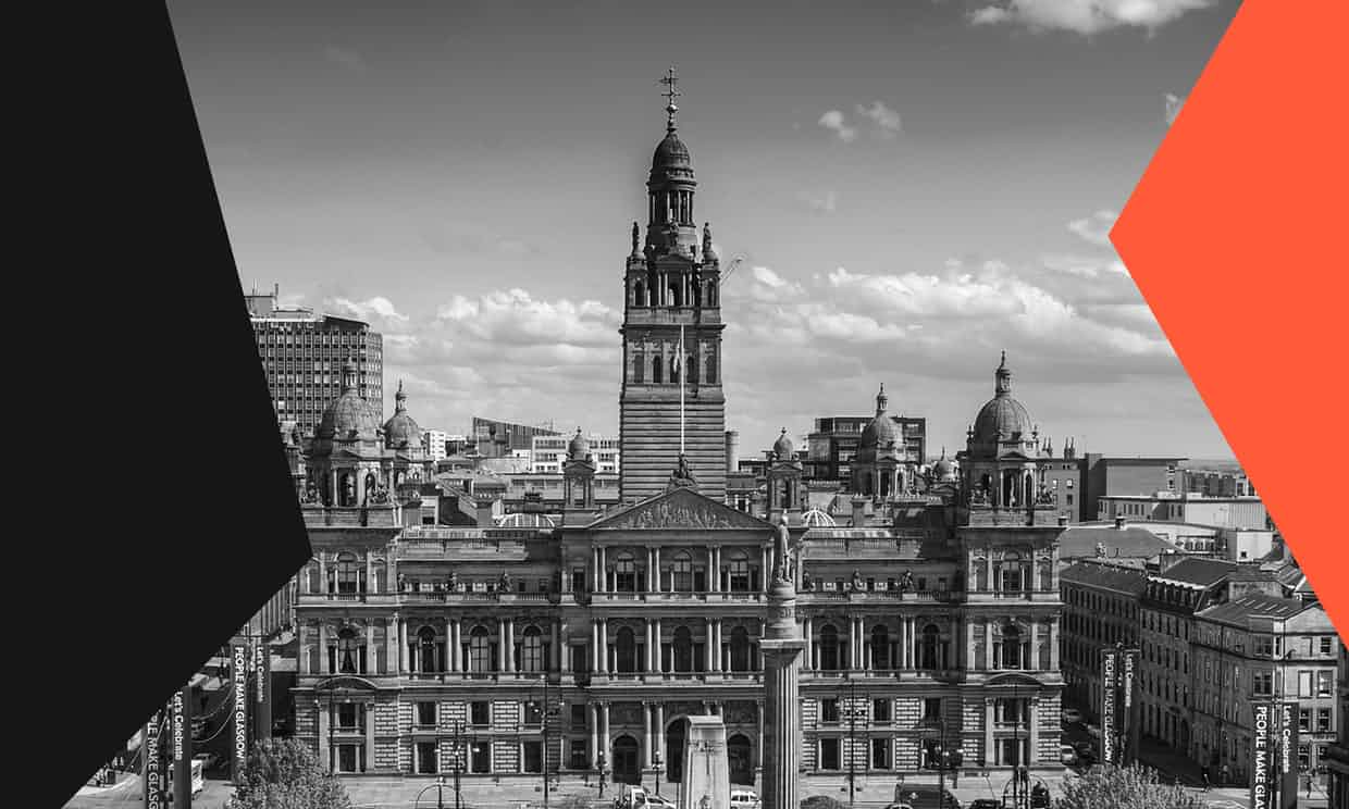 City Chambers in George Square, Glasgow. The council, police and charities have worked together to tackle knife crime. Photograph: Guardian Design Team