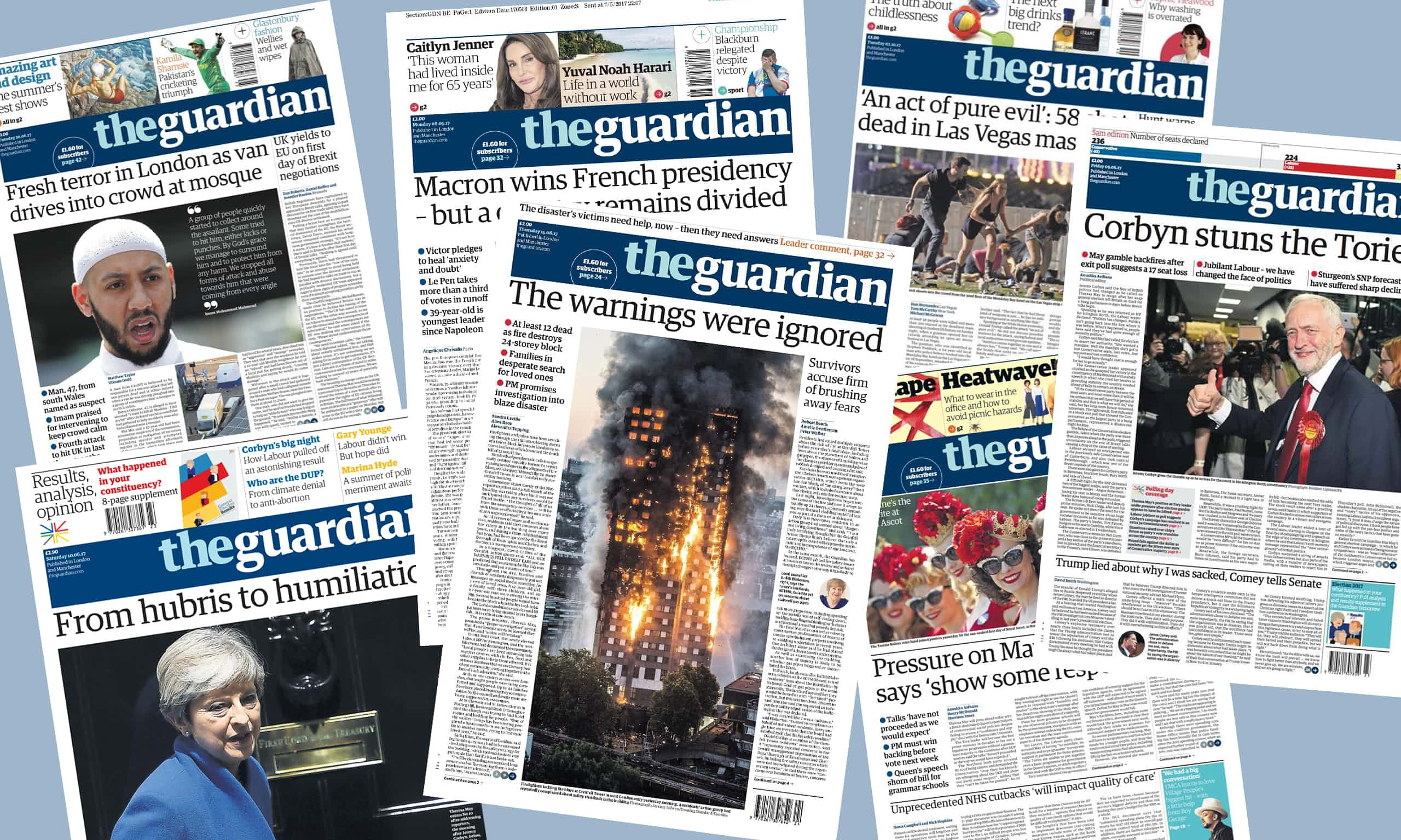 That was the year that was ... in Guardian front pages.