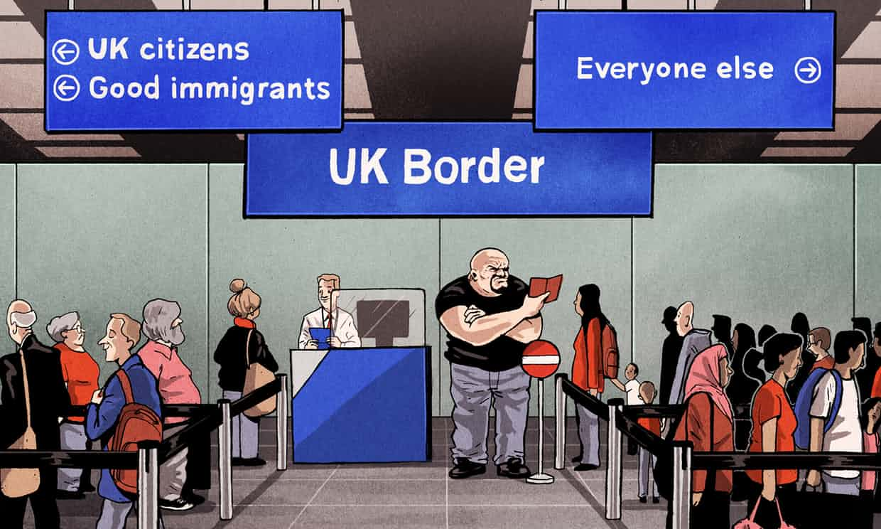 'We must ensure that the outrage not blind us to the outrageous immigration policies that continue to exclude others deemed unworthy.' Photograph: Ben Jennings