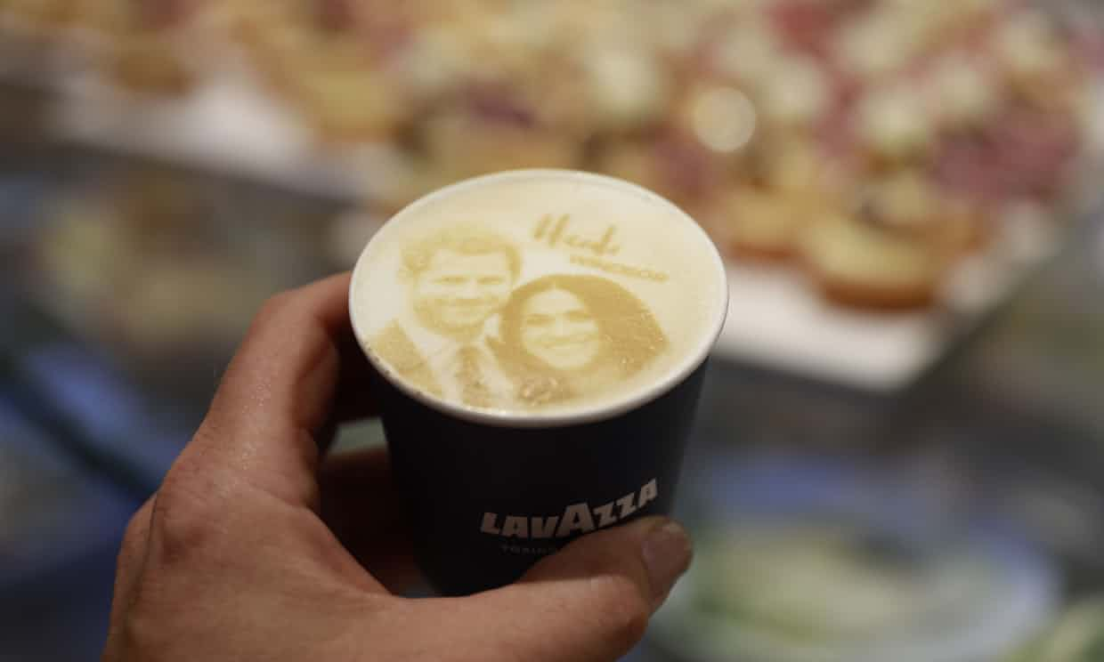 A 'Megharryccino', sold by a coffee shop in Windsor. Photograph: Odd Andersen/AFP/Getty Images