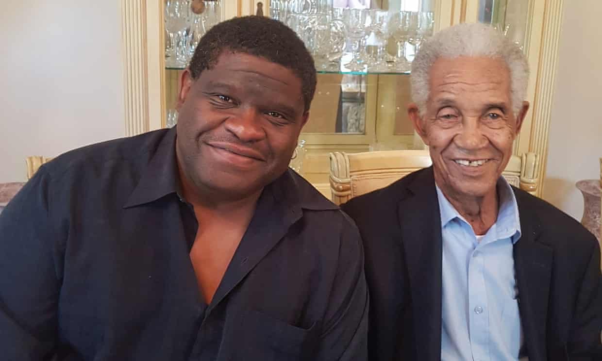 Gary Younge with his namesake, the Barbadian-born cricketer Sir Garfield Sobers. Photograph: Gary Younge