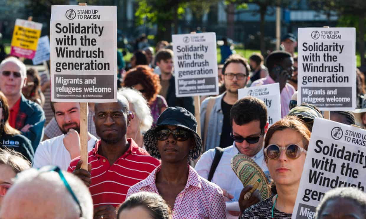 ' These hearings, reversals in decisions and potential compensation are the product of public pressure.' A Windrush generation solidarity rally in April. Photograph: Wiktor Szymanowicz/Barcroft Images