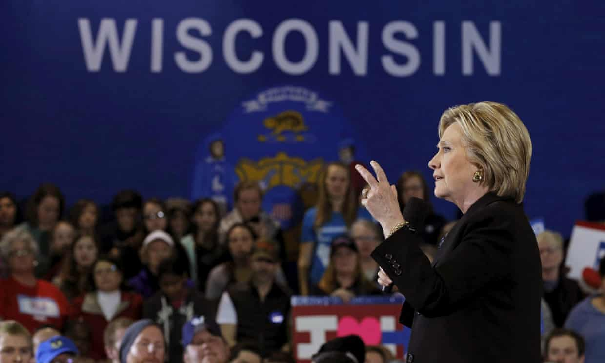 Democrats thought they had Wisconsin in the bag and made little effort there only to lose narrowly. Photograph: Jim Young/Reuters