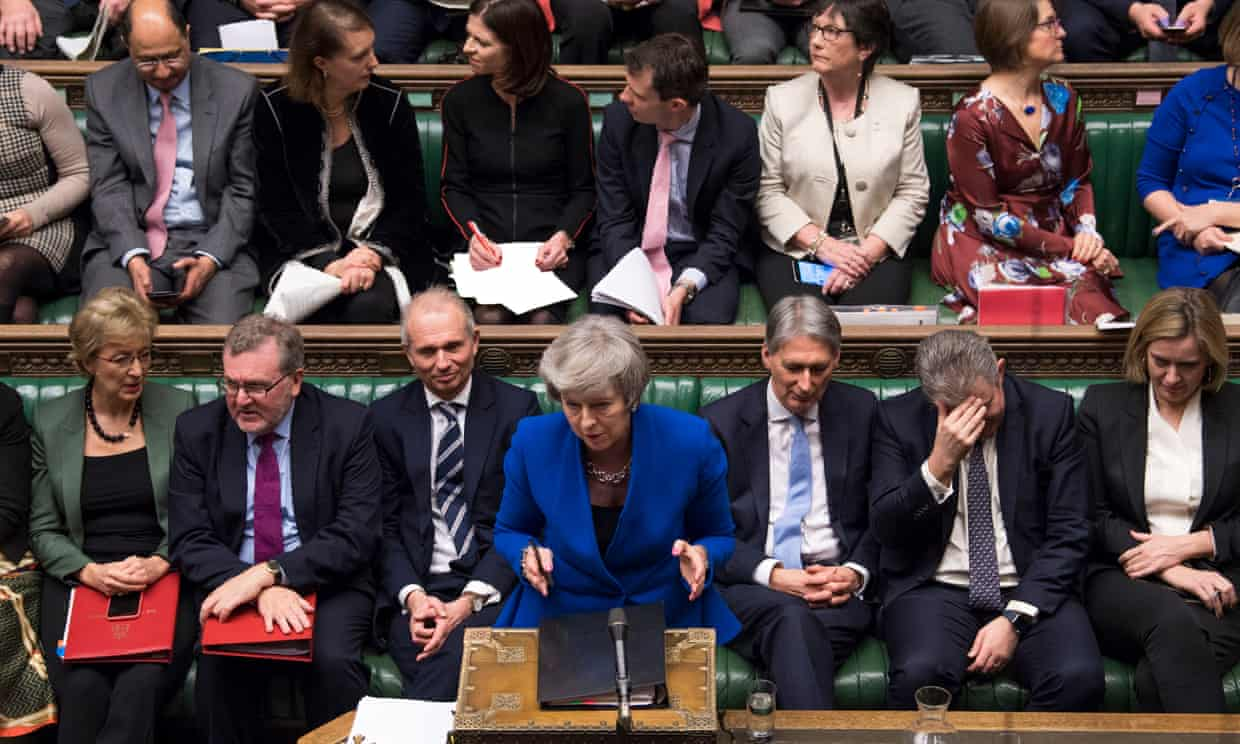 Theresa May during prime minister's questions on Wednesday 16 January. Photograph: Mark Duffy/UK Parliament/PA