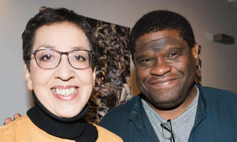 Andrea Levy and Gary Younge, friends for 20 years.