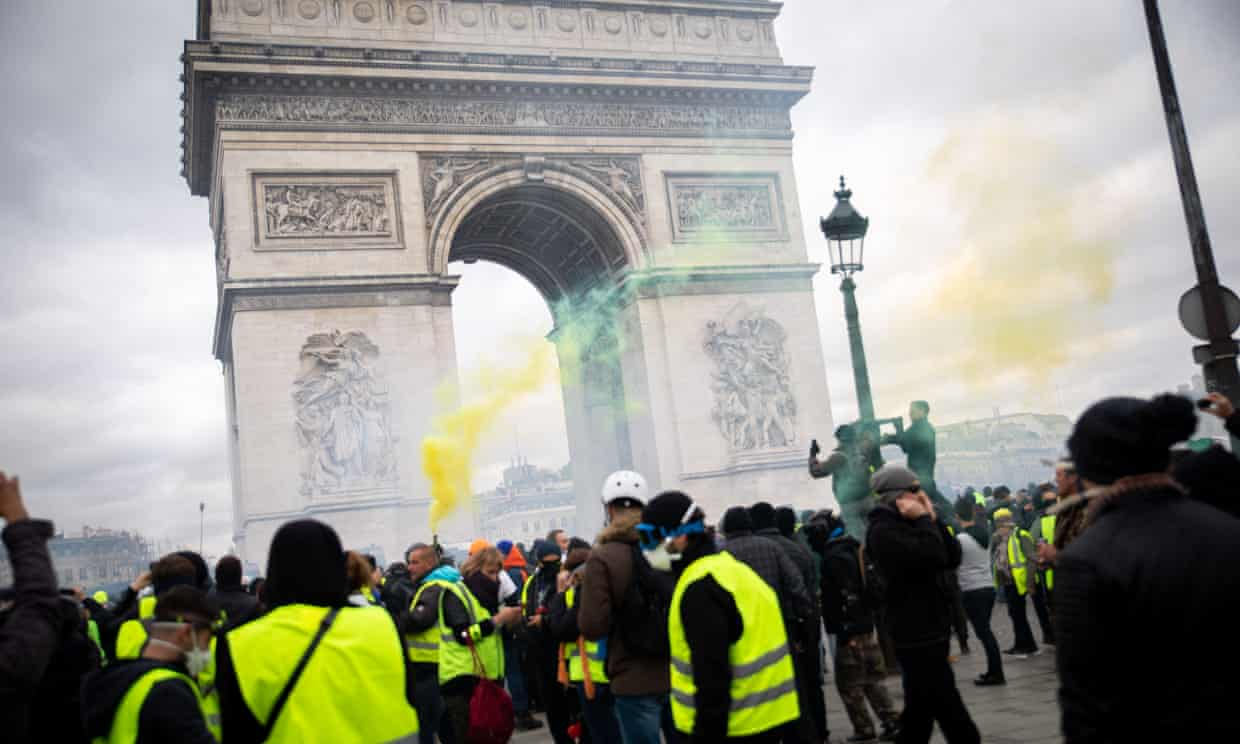 A gilets jaunes protest on 16 March. 'Since the 2008 economic crash, most countries across the west have seen … a marked increase in public protest.' Photograph: Emma Prosdocimi/SIPA/Rex/Shutterstock