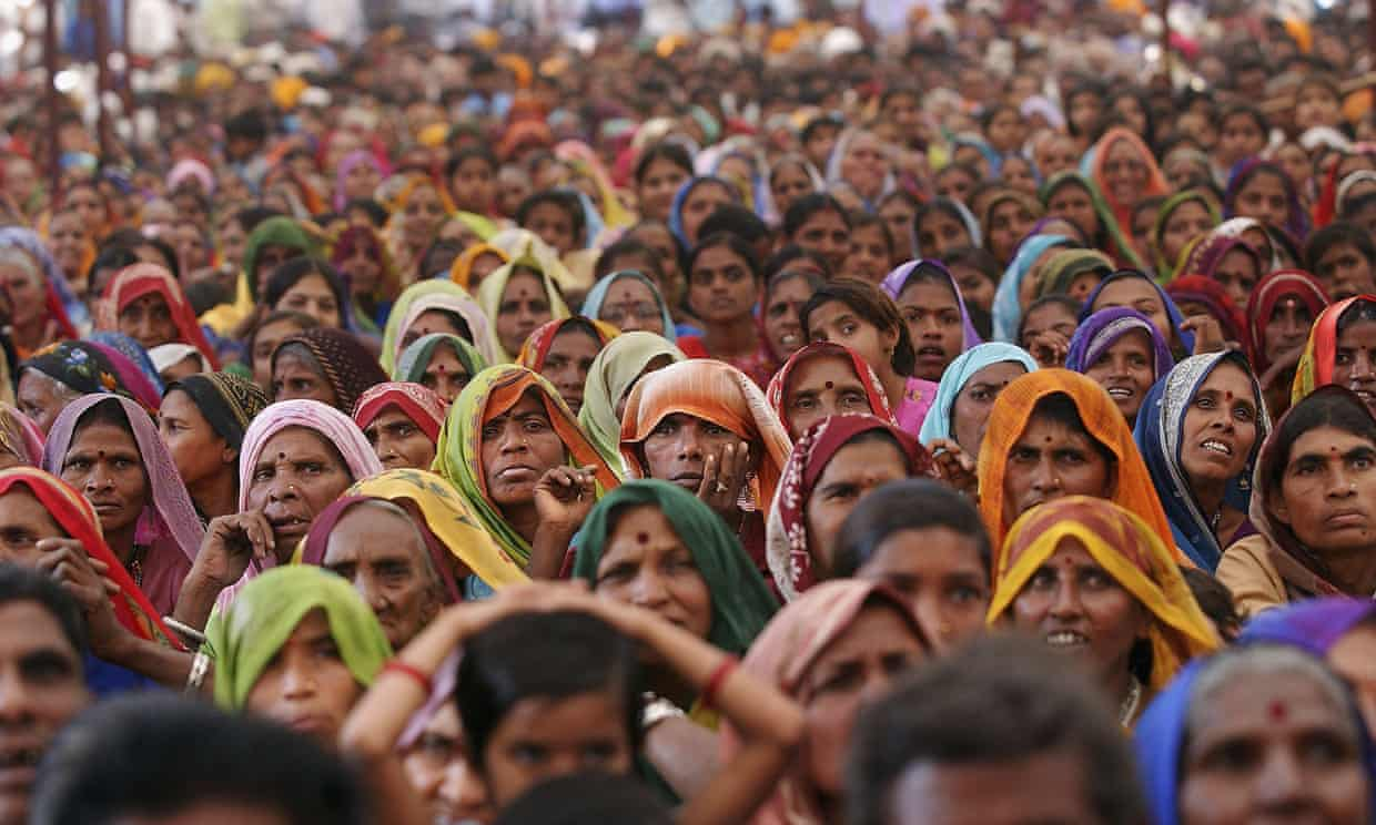 Adavasi women at a rally in 2005 marking 20 years of the resistance movement against the controversial Sardar Sarovar dam project. Photograph: Ami Vitale/Getty Images
