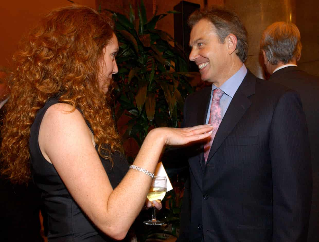 Tony Blair with Rebekah Brooks, the former chief executive of Rupert Murdoch's News International. Photograph: Fiona Hanson/PA