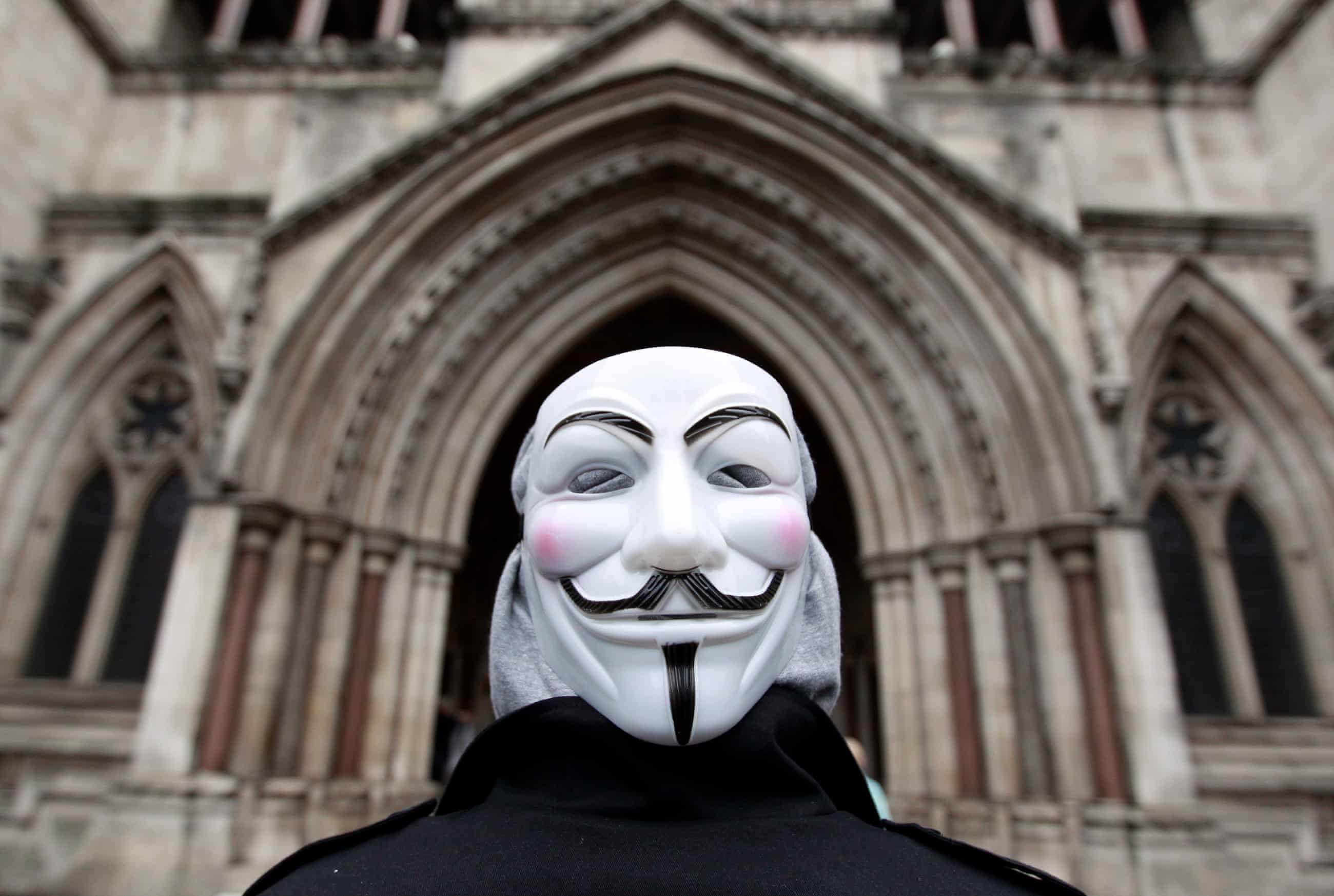 A member of Occupy London outside the High Court in January 2012. Photograph: Reuters