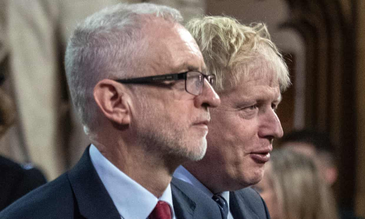 Jeremy Corbyn and Boris Johnson: 'When it comes to combating prejudice, people expect more from Labour; they expect nothing from Conservatives.' Photograph: WPA Pool/Getty Images