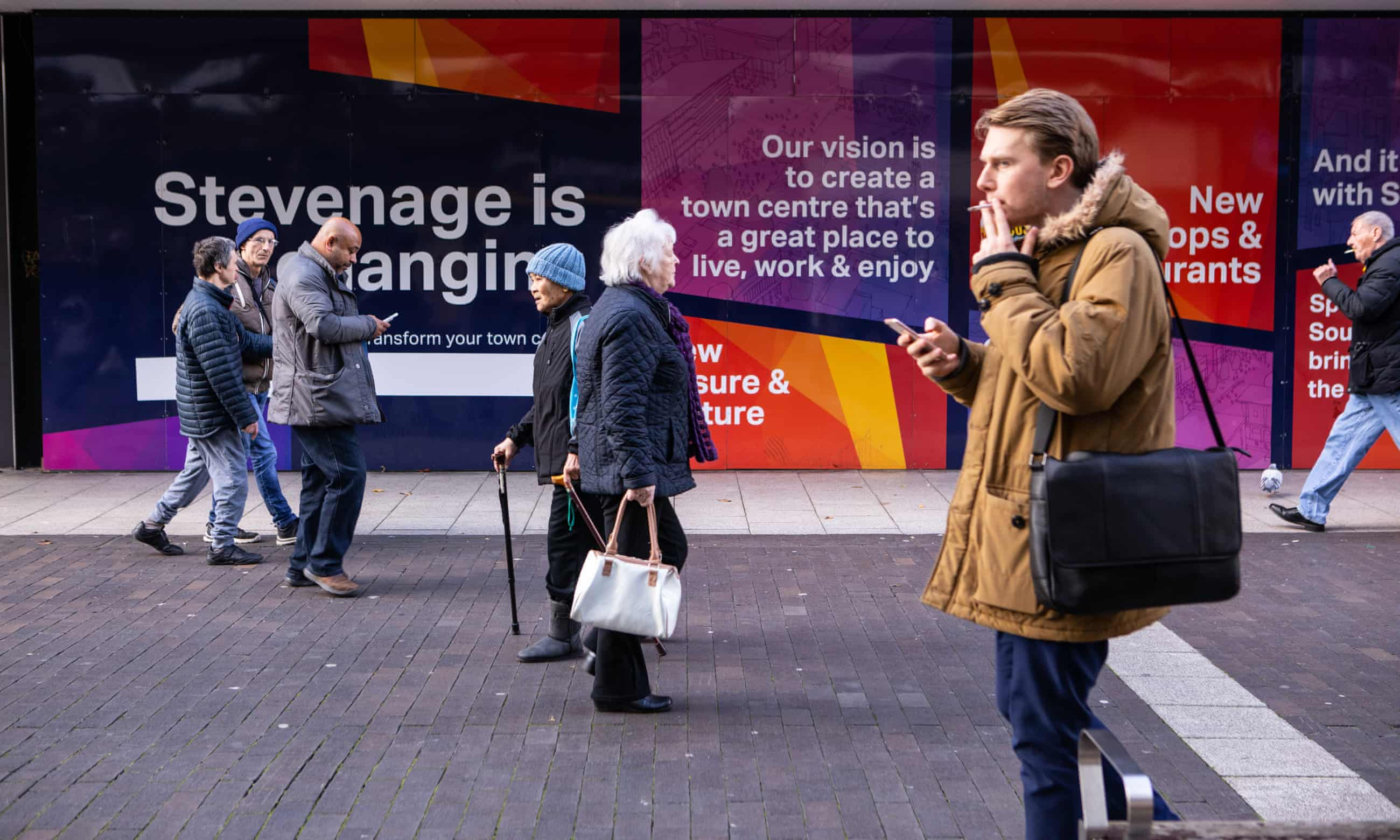 Most people I spoke to in Stevenage had been canvassed by Labour; from the Tories they had just had a leaflet. Photograph: Antonio Olmos/The Observer