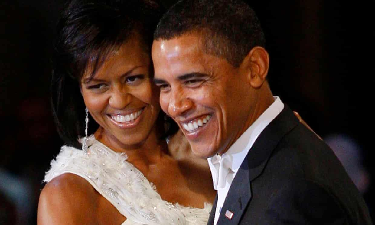 Michelle and Barack Obama at an inauguration ball in January 2009 Photograph: Gary Hershorn/Reuters/Corbis