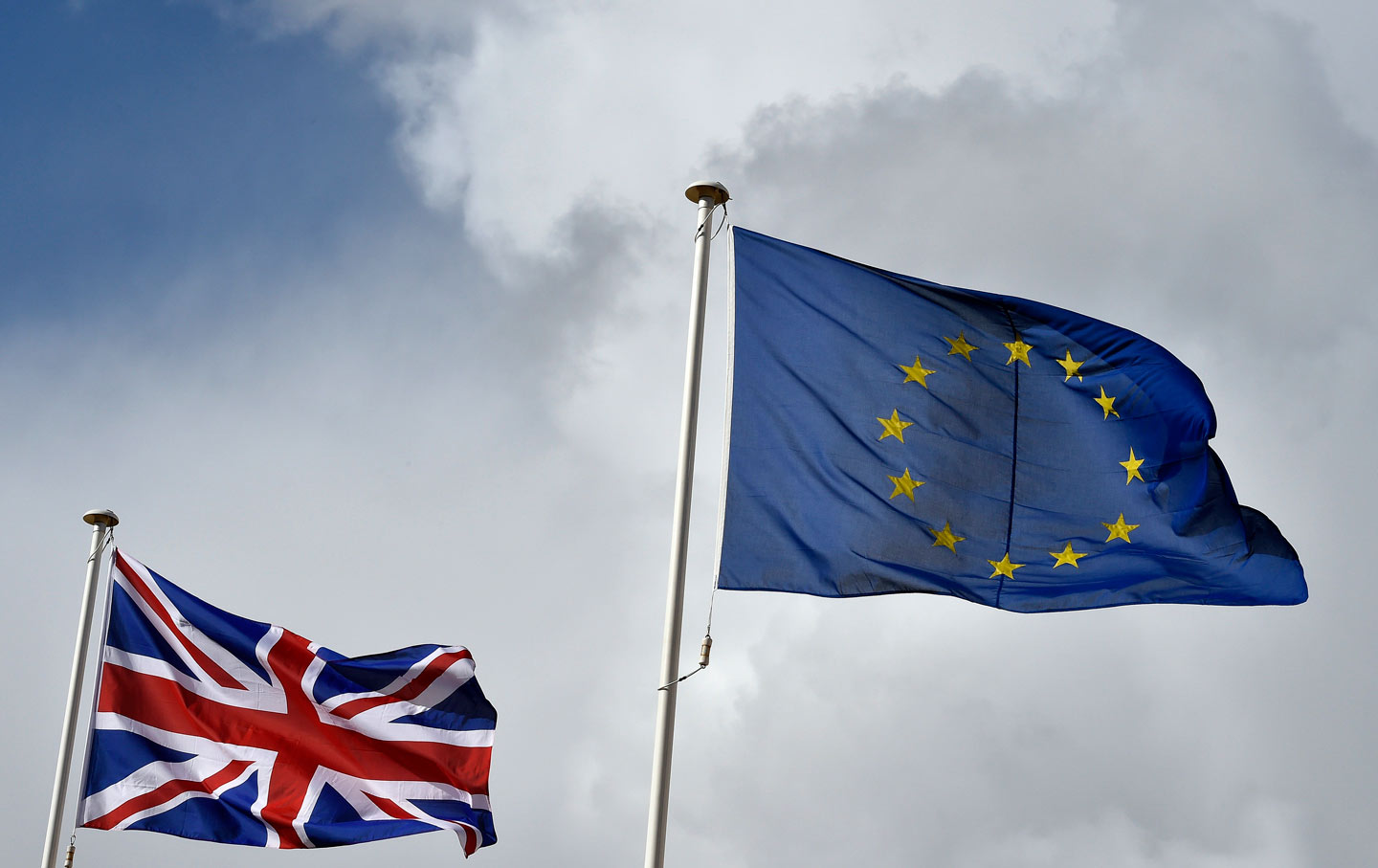 EU and Britain flags. (Press Association via AP Images)